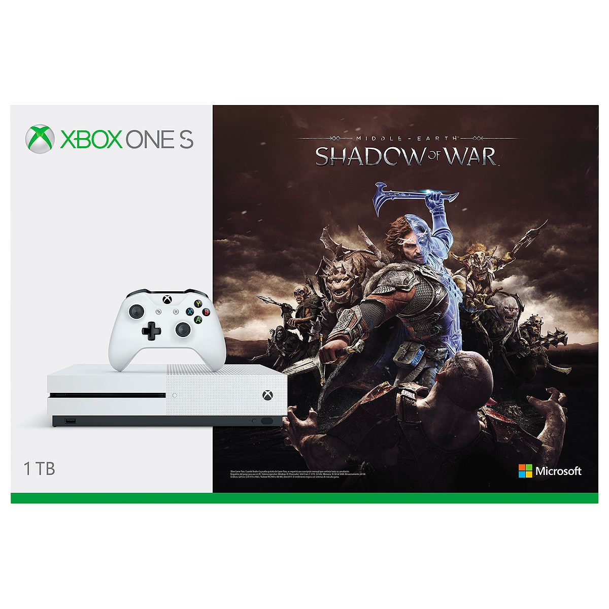 Consola Xbox One S 1TB Shadow of War